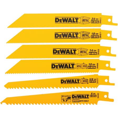 DeWalt® High Performance-Bi-Metal Blades 6 ct Pack