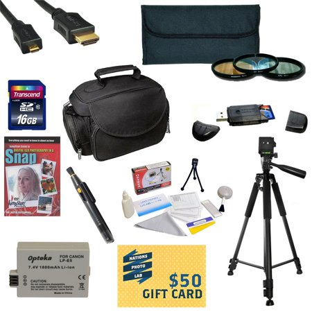 Offer Best Value Kit for Canon XS XSi Includes 16GB SDHC Card + Extra Battery + Charger + 3 Piece Pro Filter Kit + HDMI Cable + Gadget Bag +Tripod + Lens Pen + Cleaning Kit + DSLR DVD + $50 Gift Card + More Before Special Offer Ends