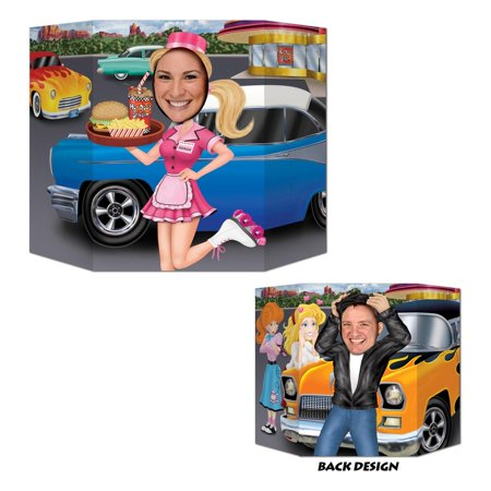 Pack of 6 Rock and Roll 50's Car Hop and Greaser Photo Prop Decorations 37