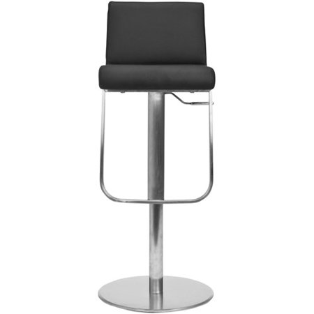 Safavieh Stanley Regenerated Leather Bar Stool, Gas Lift, 42