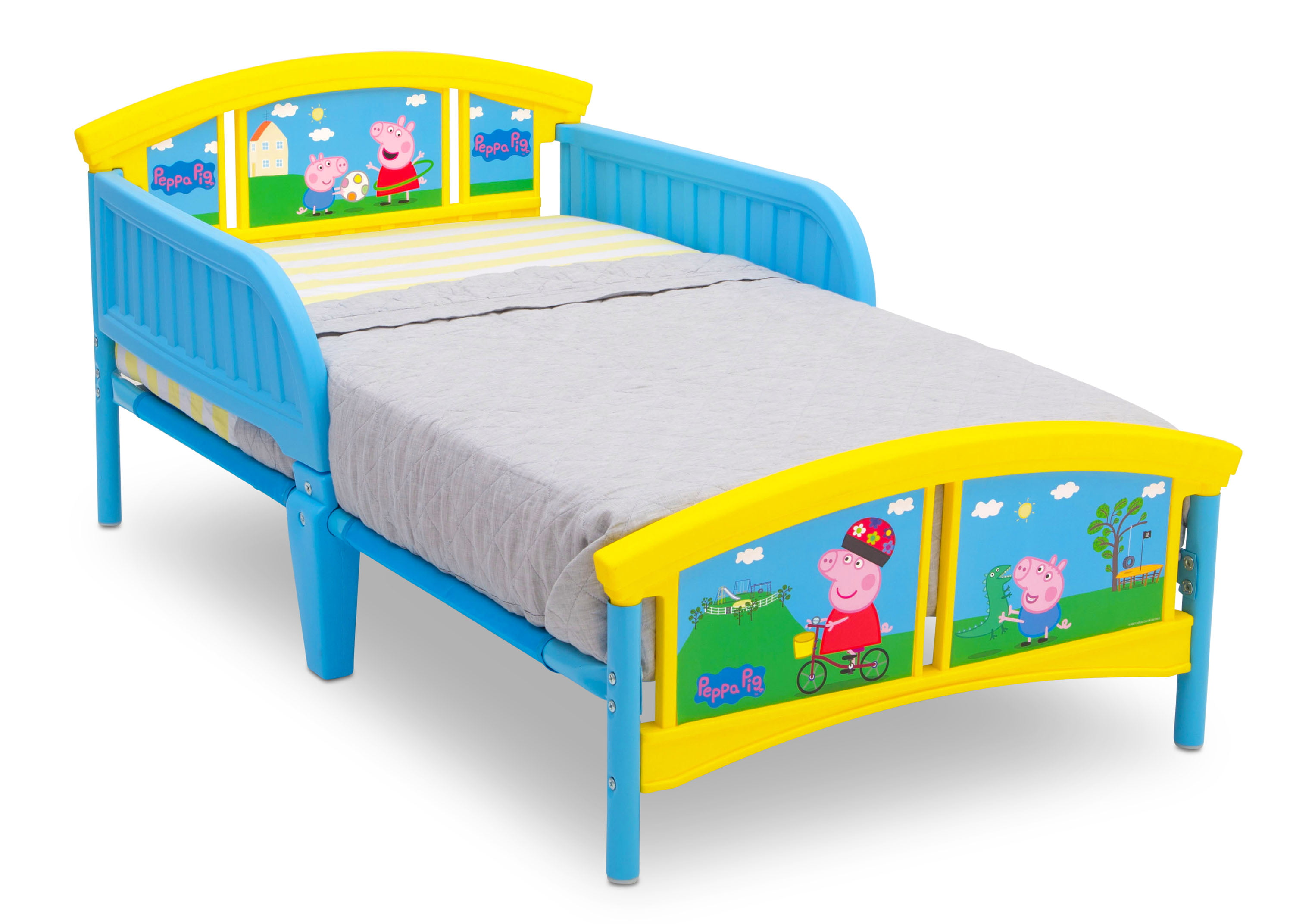 Delta Children Peppa Pig Plastic Toddler Bed Blue And Yellow