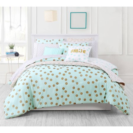 dot buy beyond navy in queen bed bath your from comforter space polka full equip dotty