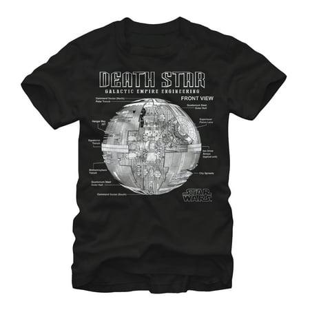 Star Wars Men's Death Star Galactic Empire Engineering T-Shirt ()