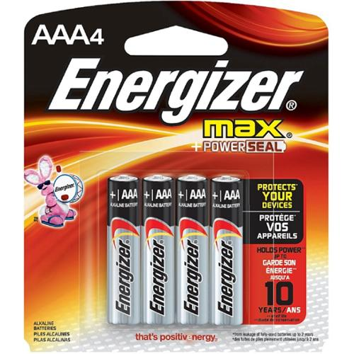 Energizer Max AAA Alkaline Battery 4 ea (Pack of 4)