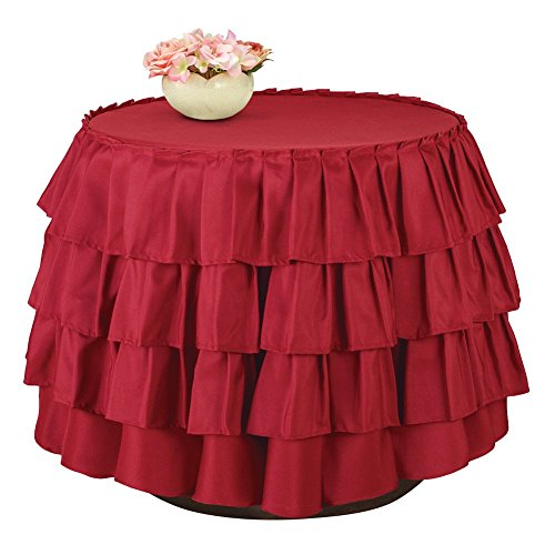 Collections Etc Ruffle Tiered Tablecloth Linens by Collections Etc