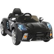 12v ride on car kids w mp3 electric battery power remote control rc black
