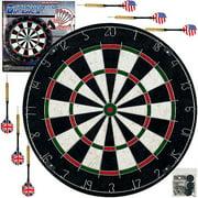 Trademark Games Pro Style Bristle Dart Board Set with 6 Darts and Board by TRADEMARK GAMES INC
