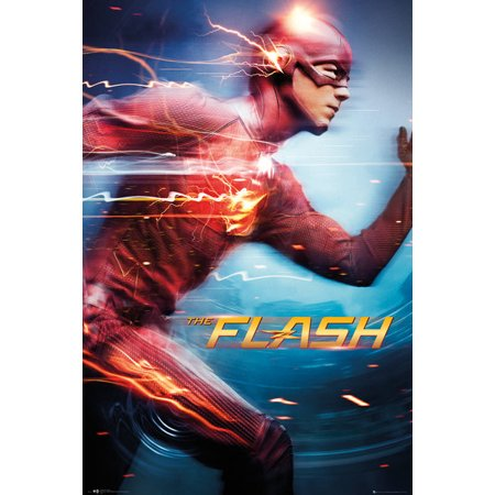 New Tv Show Poster - The Flash - DC Comics TV Show Poster / Print (Speed) (Size: 24
