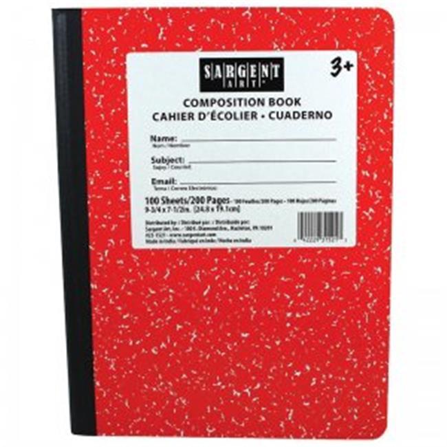 Sargent Art SAR231521BN Red Composition Book, 100 Seets Per Pack - 12 Each - image 1 de 1