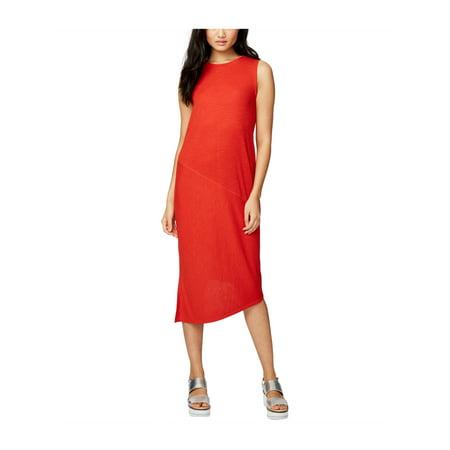 Rachel Roy Womens Ribbed Asymmetrical Dress lava XL - image 1 de 1