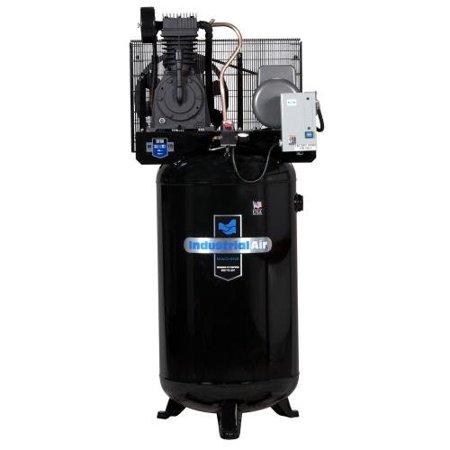Industrial Air IV5018055 5 HP 230V 80 Gallon Baldor Industrial Vertical Stationary Air Compressor