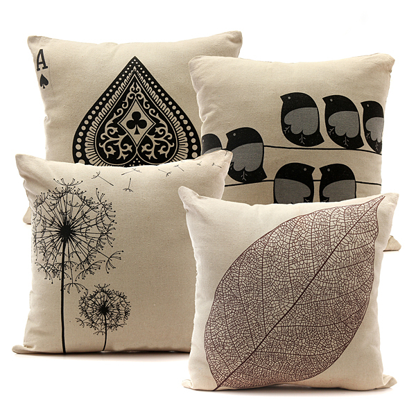 On Clearance 18''x18'' Linen Cotton Throw Pillow Covers Decorative Pillow Cases Protector with Zipper Car Sofa Home Decor
