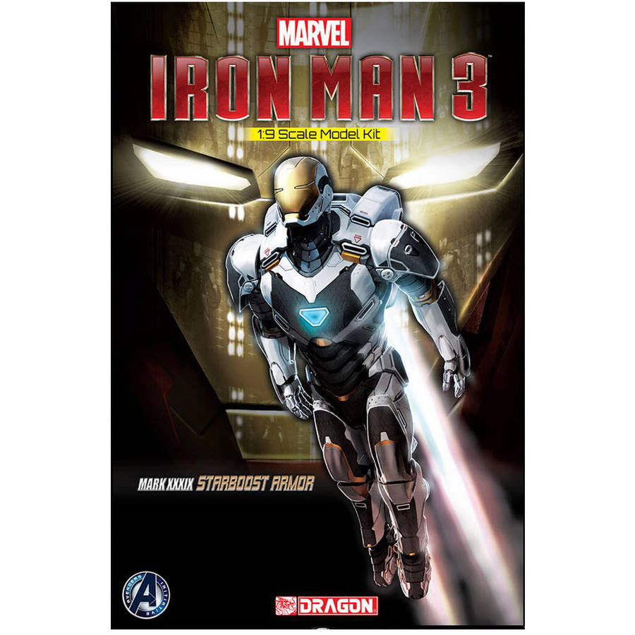 Dragon Models 1/9 Scale Iron Man 3 Mark XXXIX Starboost Armor Model Kit
