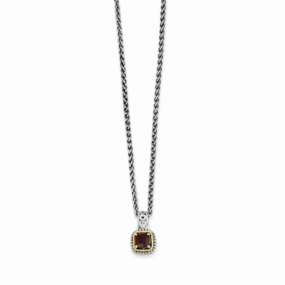 IceCarats 925 Sterling Silver 14k Red Garnet Chain Necklace Gemstone Fine Jewelry Ideal Mothers Day Gifts For Mom Women... by IceCarats