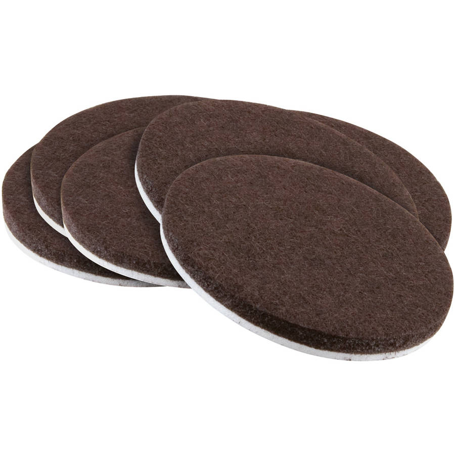"""Waxman Consumer Group 4723295N 2"""" Brown Round Self-Stick Felt Pads, 6 Count"""
