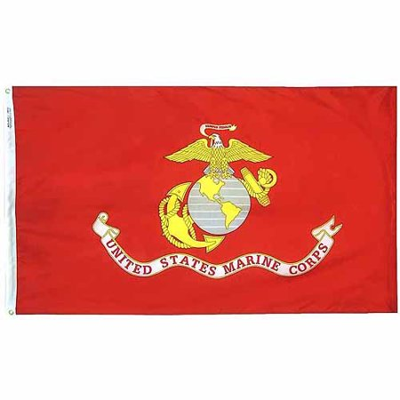 U S  Marine Corps Military Flag  4 X 6  Nylon Solarguard Nyl Glo  Model  439007