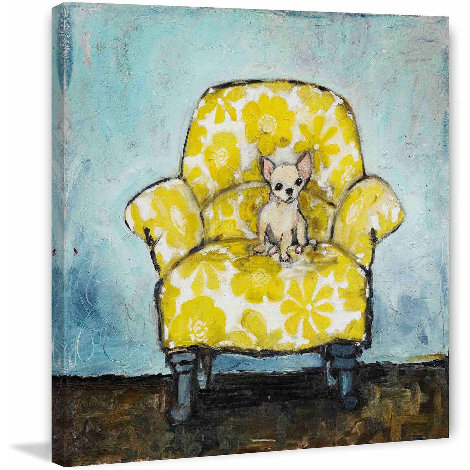 """Marmont Hill """"Dog Allowed In"""" by Tori Campisi Painting Print on Canvas"""