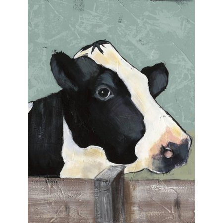 Holstein Cow I Farmhouse Animal Art Print Wall Art By Jade Reynolds - Farm Animal Wall