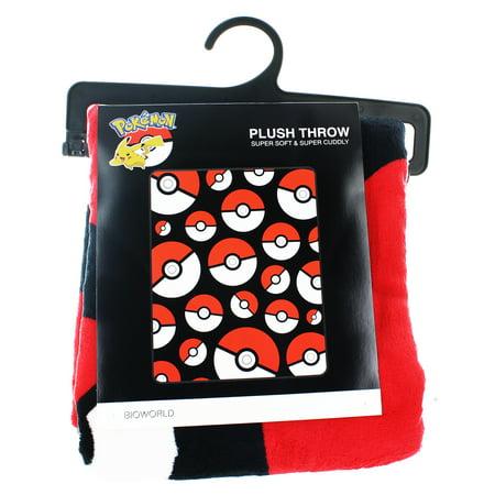 Pokemon Pokeball 48 X 60 Throw Blanket Walmart
