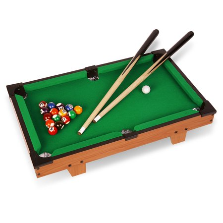 Virhuck Mini Table Top Pool Table Game Billiard Table Set With Balls - Mini billiards table set