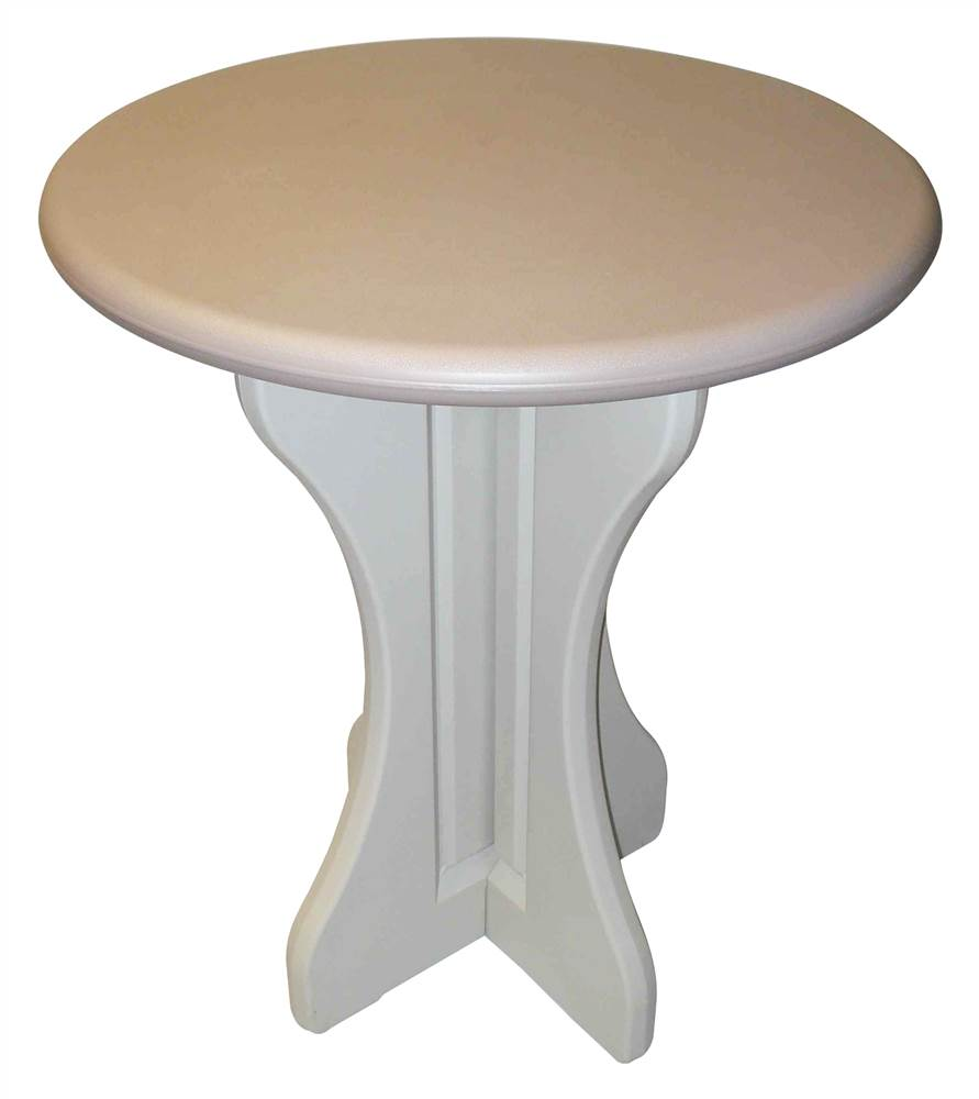 30 in. Diameter Patio Table in Taupe