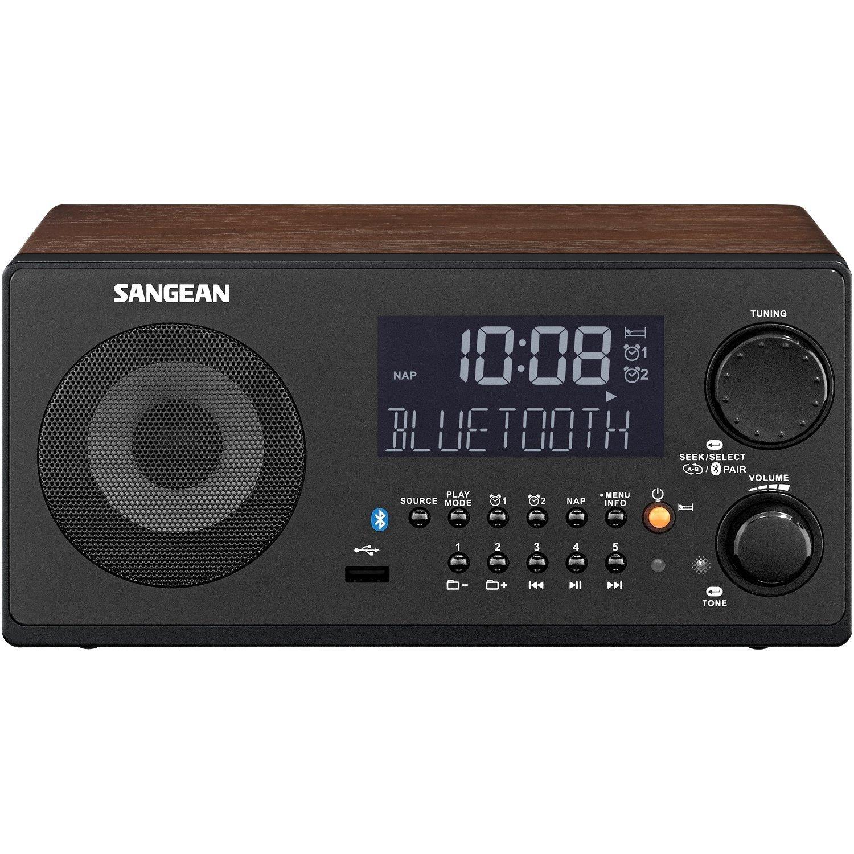 Refurbished Sangean WR-22WL FM-RBDS AM USB Bluetooth Digital Receiver, Walnut by Sangean