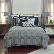 3-Pc Comforter Set in Black (Full/ Queen)
