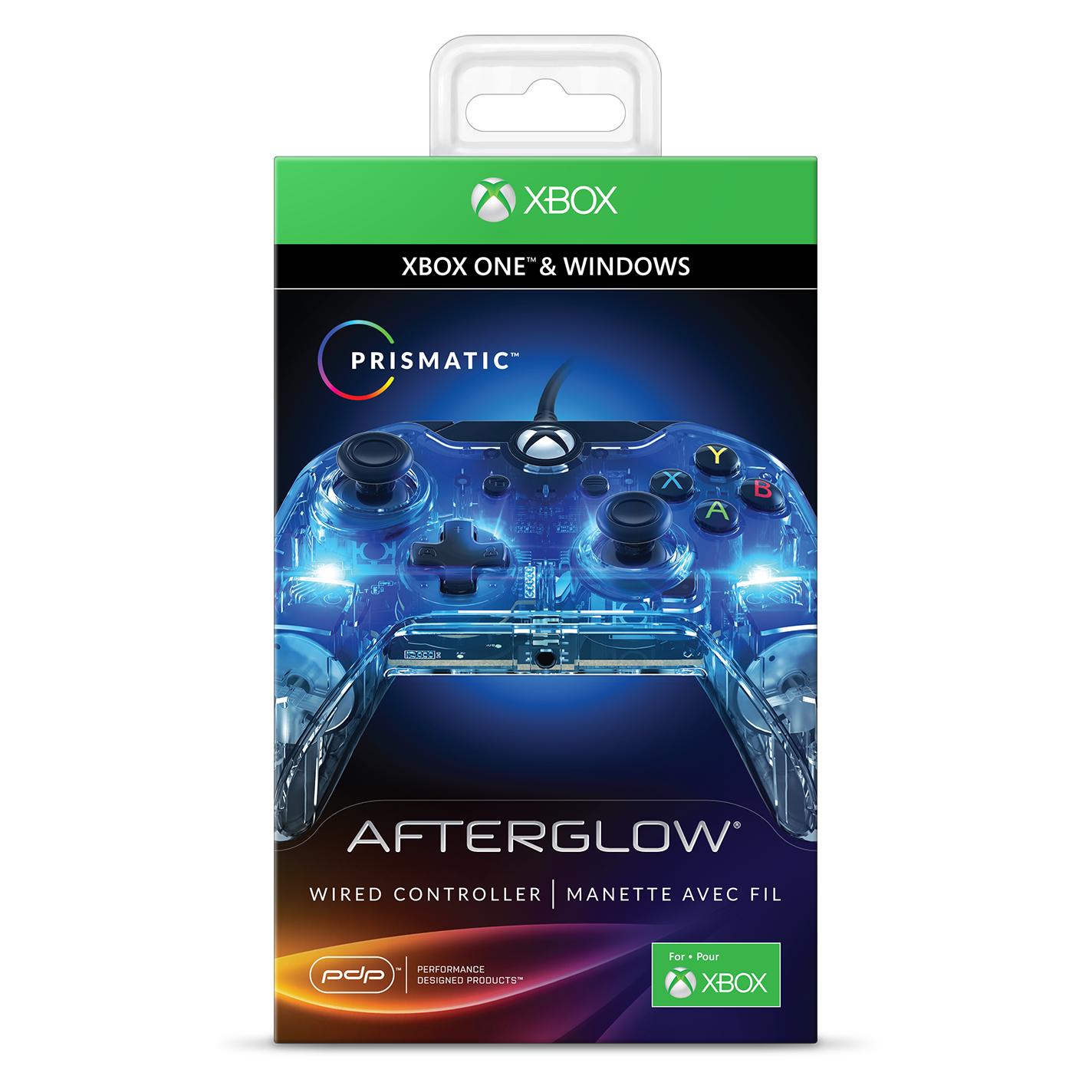PDP Afterglow Prismatic Xbox One Wired Controller, Multiple Colors, 048-121-NA
