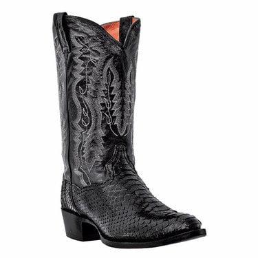 "Men's Dan Post 13"" Pull On Fashion Boots BLACK 8.5 EW"