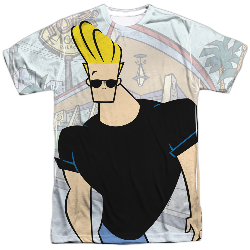 Johnny Bravo Cartoon Network TVSeries Johnny Strutting Adult Front Print T-Shirt