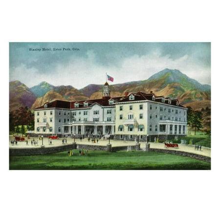 Rocky Mountain National Park, Colorado, Exterior View of the Stanley Hotel, Estes Park Print Wall Art By Lantern Press