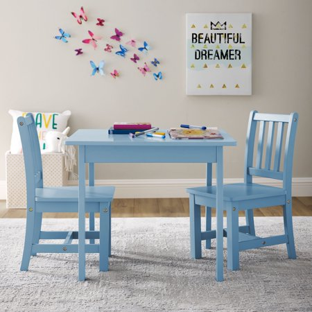 Better Homes and Gardens Paisley Kids Table and Chairs Play Set, Multiple Colors