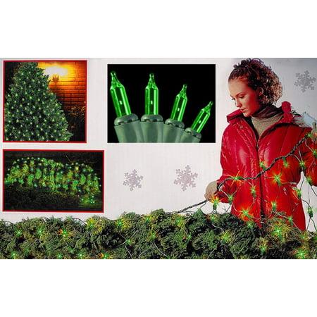 4 X 6 Green Mini Net Style Christmas Lights   Green Wire