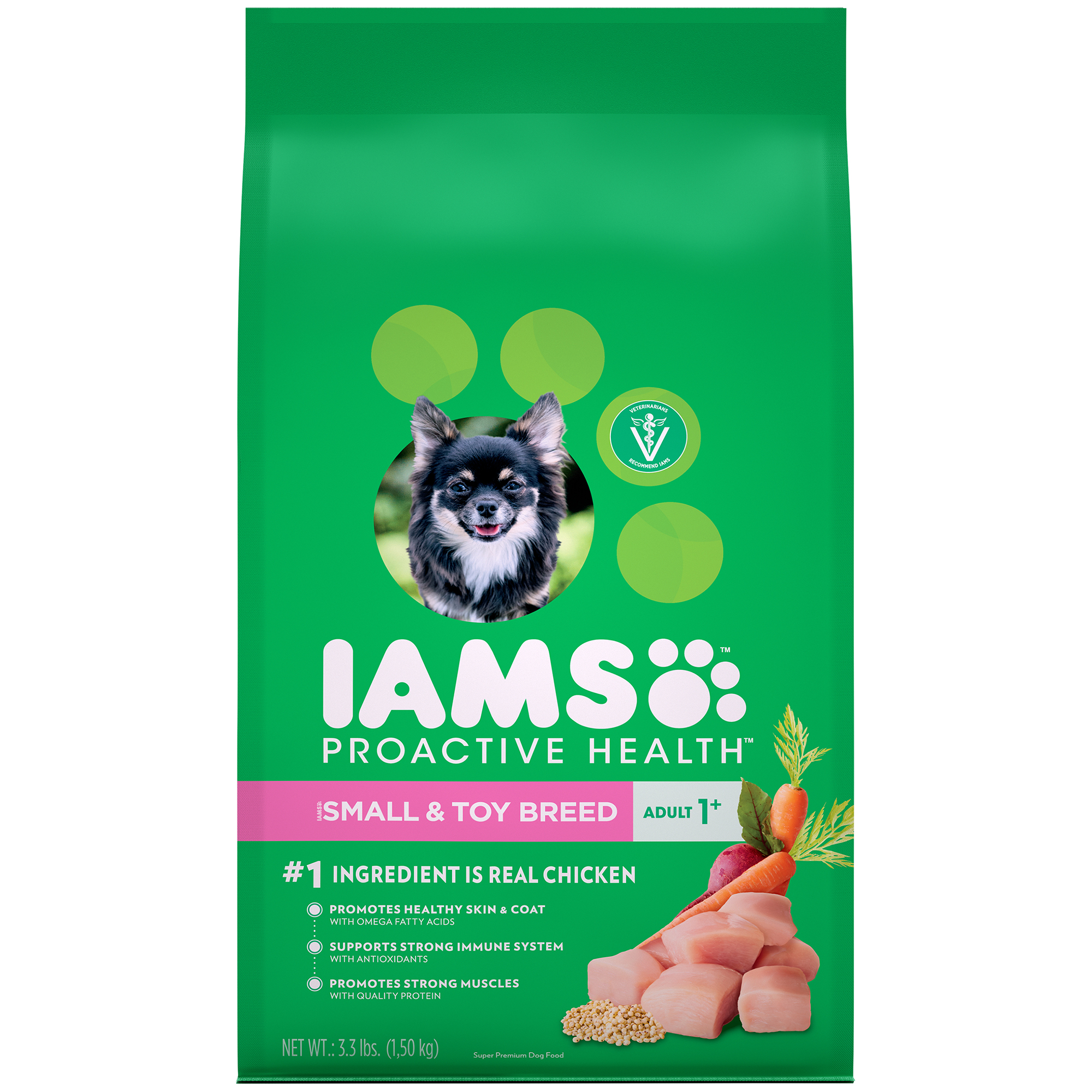 Iams Proactive Health Small And Toy Breeds Dry Dog Food, Chicken, 3.3 Lb