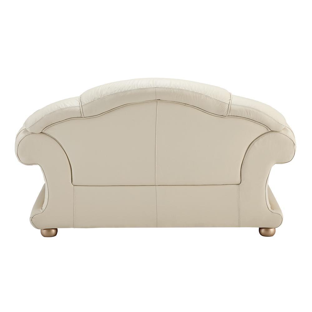 Amazing Genuine Leather Sofa Loveseat Set 2Pcs Contemporary Luxury Esf Apolo Ivory Uwap Interior Chair Design Uwaporg