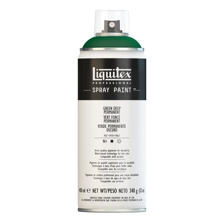 - Liquitex Professional Spray Paint, 400ml, Green Deep Permanent