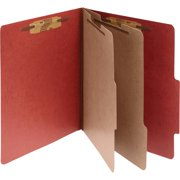 "Acco, ACC16036, 3"" Expanding 2 Partition Classification Folders, 10 / Box, Earth Red"