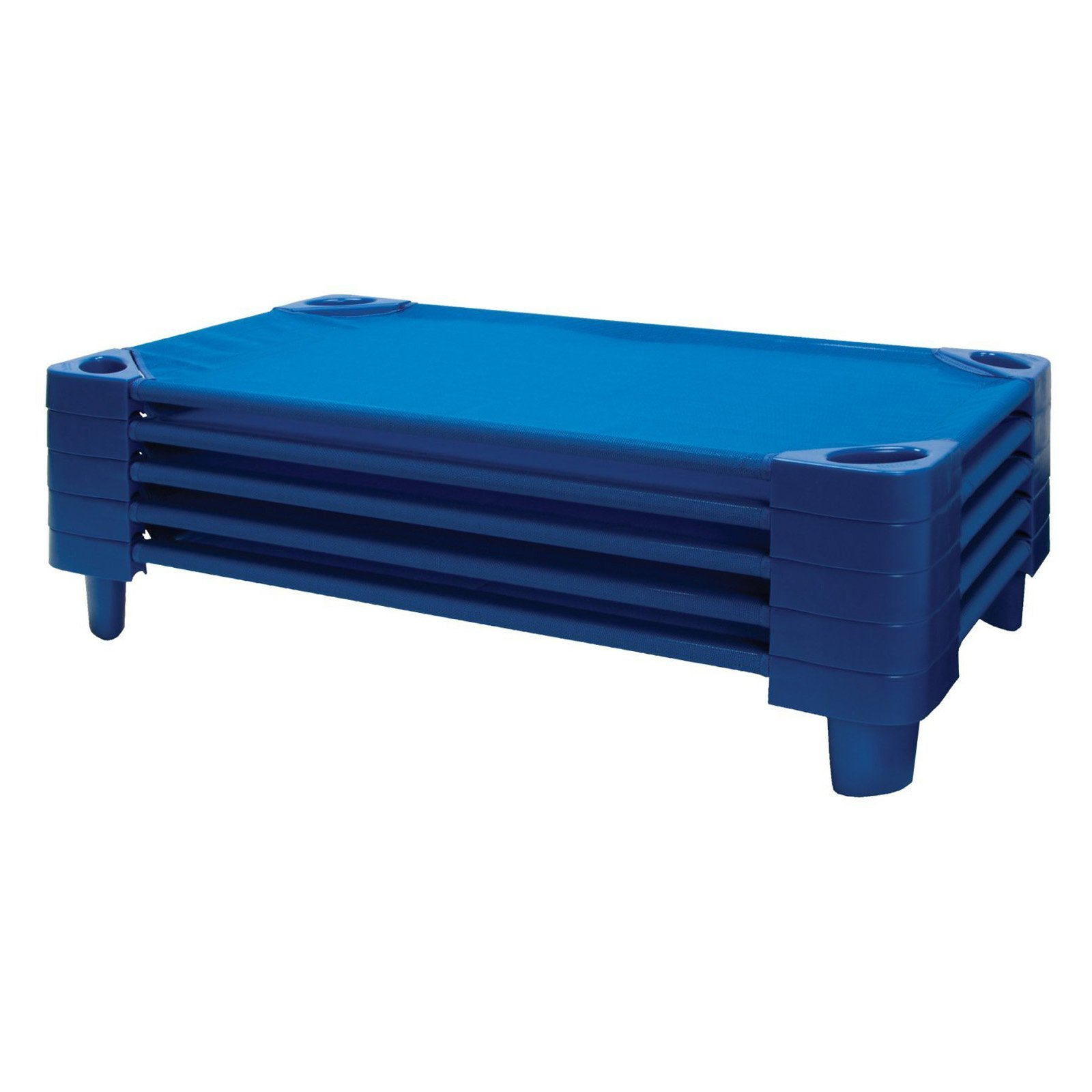 Click here to buy ECR4KIDS Stackable Assembled Kiddie Cots 5 Pack by ECR4KIDS LP.