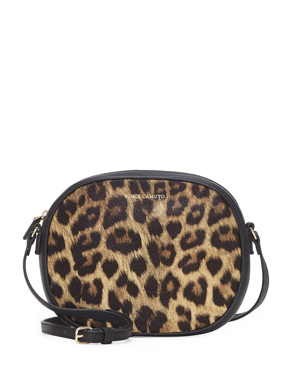 Diann Round Leather Crossbody Bag