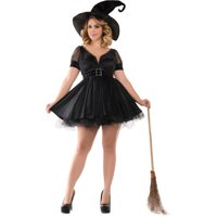 Halloween Adult Sassy Plus Bewitching Pin-Up Witch Costume