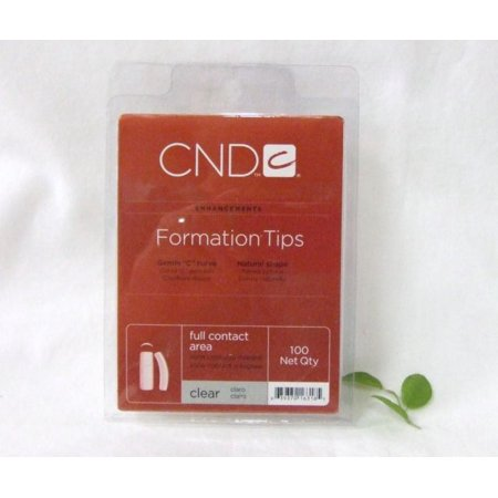 Creative Nail Design Mask - CND Creative Nail Design Nail Tips Formation Clear Size 0-10 100ct/Tray
