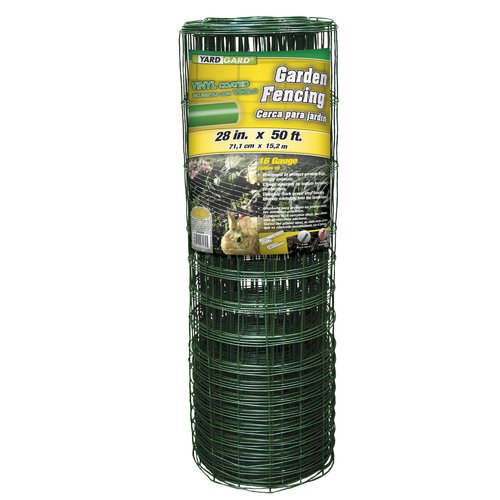 YARDGARD 28 inch by 50 foot 16 Gauge Green Rabbit Fence by Midwest Air Technologies