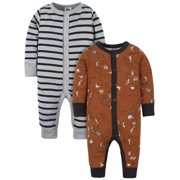 Modern Moments by Gerber Baby Boys Organic Coveralls, 2-Pack