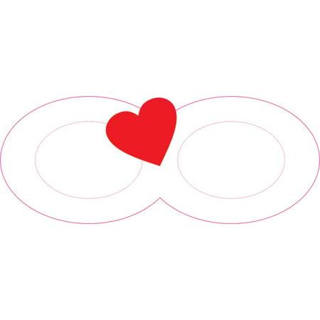 5in X 2in Heart Infinity Symbol Sticker Walmart