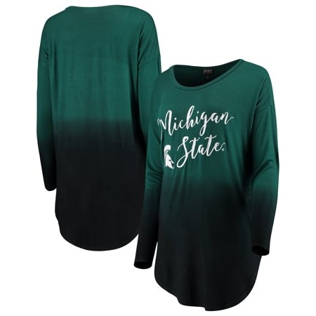 Michigan State Spartans Women's Own It Ombre Long Sleeve Tunic Shirt - Green - Spartan Tunic
