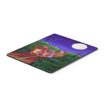 Trick or Treat Halloween Pug Mouse Pad / Hot Pad / Trivet (Halloween Pugs)