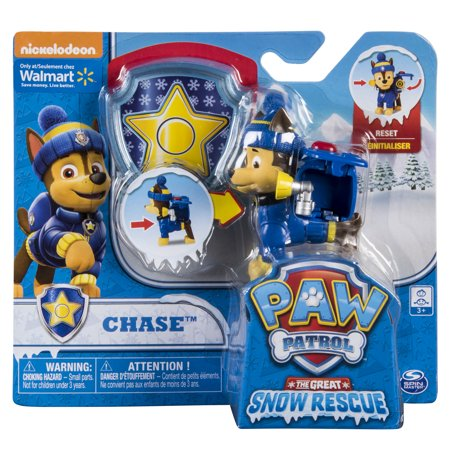Paw Patrol Snow Rescue – Chase with Transforming Pup Pack