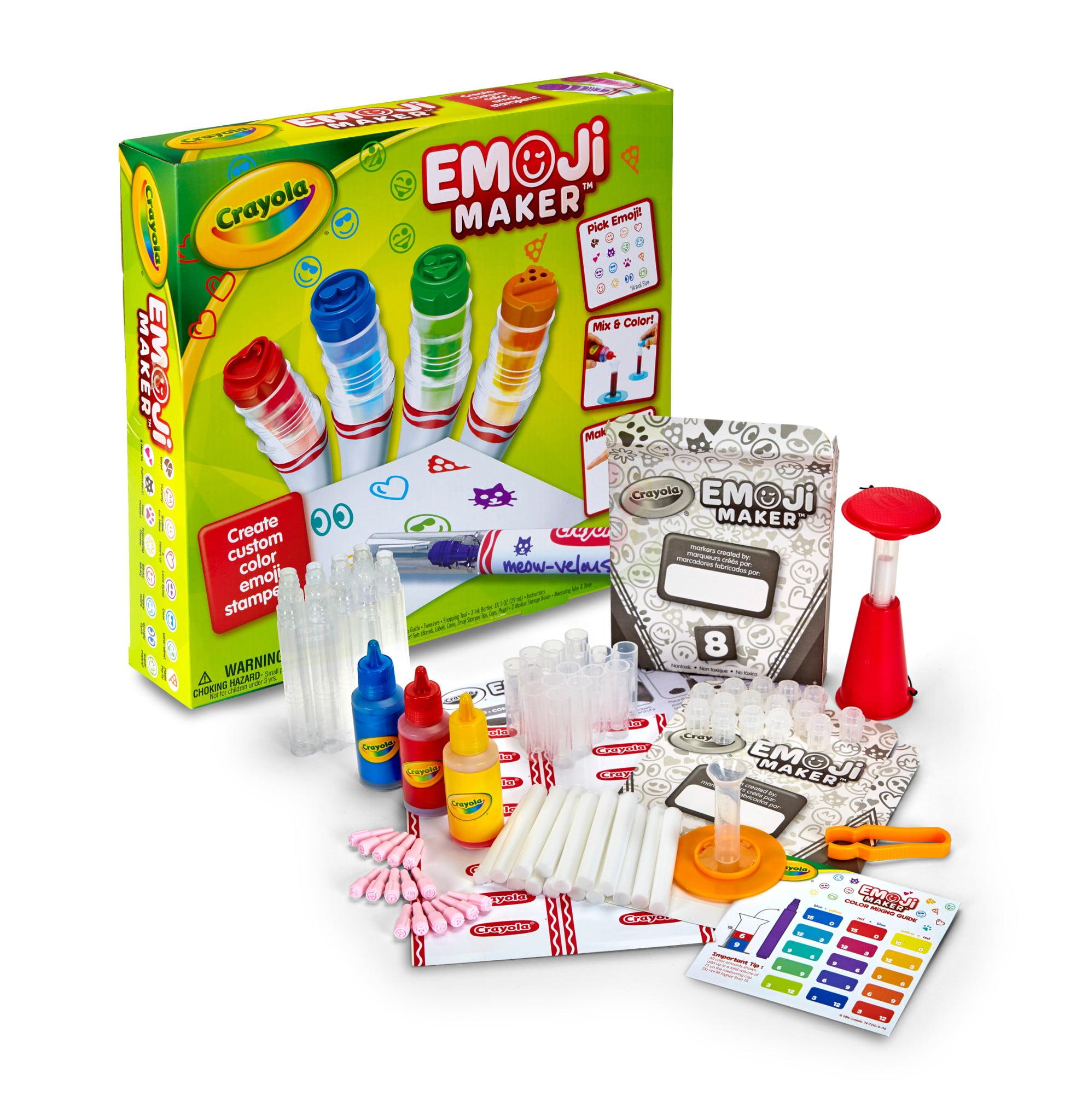 Crayola Emoji Stamp Maker, Marker Maker, Gift, Ages 6, 7, 8, 9, 10,