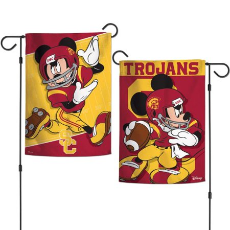 Southern California Trojans NCAA Mickey Mouse Garden Flag Double Sided -