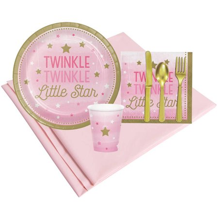 Twinkle Twinkle Little Star Party Decorations (Twinkle Twinkle Little Star Pink 8 Guest Party)